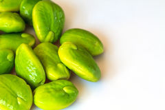 Green bitter beans Royalty Free Stock Photo