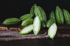 Green Bitter Melons Royalty Free Stock Photography