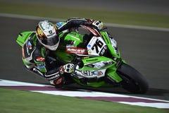 Green and Black #76 Kawasaki Motogp Rider Royalty Free Stock Photos