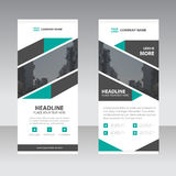 Green black abstract Business Roll Up Banner flat design templat Stock Image