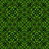 Green black abstract texture. Detailed caleidoscope effect background illustration. Textile print pattern. Geometric seamless tile. Home decor fabric design Royalty Free Stock Photography