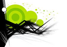 Green and black background. A background of green and black on white with room for text Royalty Free Stock Image