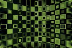 Green & Black Background. Squares seamless pattern in green and black Royalty Free Stock Photos