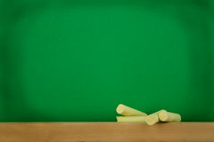 Green black-board Stock Images