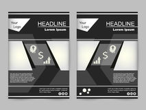 Green and black brochure design Stock Photos