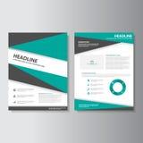 Green black brochure flyer leaflet Infographic presentation templates flat design set for marketing. Advertising stock illustration