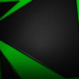 Green and black carbon fiber background. 3d illustration material design. racing style royalty free illustration