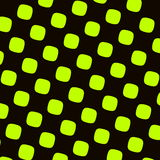 Green Black Checkered Pattern. Round Squares Texture. Abstract Elements. High Contrast Recurring Shapes. Pop or Cartoon Effect.