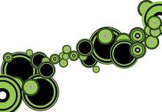 Green and black circle Royalty Free Stock Images