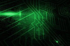 Green and black circuit board. Digitally generated green and black circuit board Stock Photo
