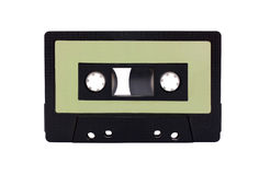 Green - Black Compact Cassette isolated Stock Photography