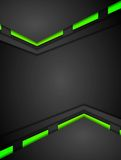 Green and black contrast gradients tech design Royalty Free Stock Images