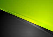 Green and black contrast striped abstraction Royalty Free Stock Photography