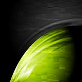 Green and black contrast technology backdrop Royalty Free Stock Images