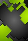 Green black contrast technology background Stock Images