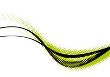 Green and black curves. On white background vector illustration