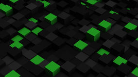 Green and black 3D boxes. Abstract background Royalty Free Stock Photos