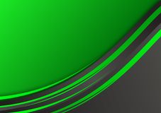 Green and black geometric abstract vector background with copy space stock illustration
