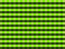 Green and black  gingham pattern Stock Photography