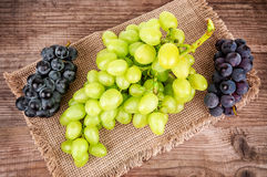 Green and black grape Stock Photo