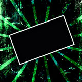 Green and Black Grunge Frame Stock Image