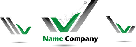 Green with black logo for business companies Royalty Free Stock Photography