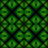 Green black modern abstract texture. Detailed background illustration. Textile print pattern. Geometric seamless tile. Home decor Royalty Free Stock Image