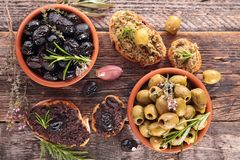 olive tapenade royalty free stock photo
