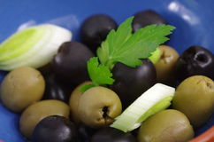 Green and black olive Stock Photo