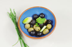 Green and black olive Royalty Free Stock Photography
