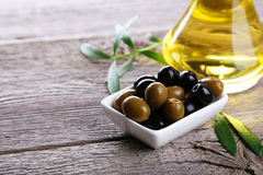 Green and black olives Stock Image