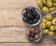The green and black olives Royalty Free Stock Photo