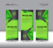 Green and black Roll Up Banner template vector illustration Stock Photos