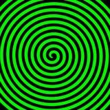 Green black round abstract vortex hypnotic spiral wallpaper. royalty free illustration
