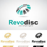Green and Black Round Glossy Revolving Logo Icon Royalty Free Stock Photos