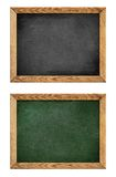 Green and black school blackboard or chalkboard Stock Images
