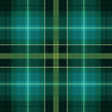 Green and black scottish pattern Stock Photography