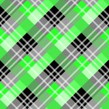 Green and Black Scottish Woven Tartan Plaid Seamless Pattern - Vector. Illustration eps10 royalty free illustration