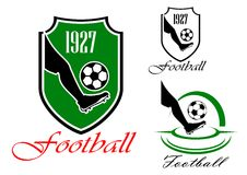 Green and black soccer or football symbol Stock Photo