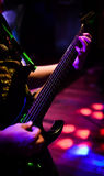 Green and Black 7 String Stock Photo