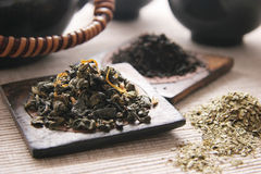 Green and black tea. Stock Photography