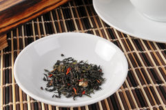 Green and black tea Royalty Free Stock Images