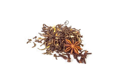 Green and black tea with anise and cloves spices Royalty Free Stock Photography