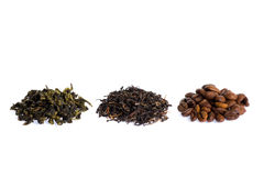 Green, black tea and caffee Royalty Free Stock Image