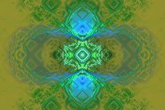 Green black waves fractal fraktal wallpaper background animated geometric shapes pattern. Book cover or any concept royalty free illustration
