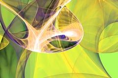 Green black waves fractal fraktal wallpaper background animated geometric shapes pattern. Book cover or any concept vector illustration