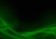 Green and black wavy abstract vector illustration