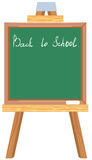 Green blackboard. Back to school Royalty Free Stock Images