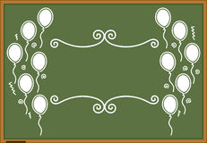 Green blackboard celebration design Royalty Free Stock Photos