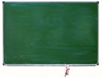 Green blackboard isolated Stock Photography